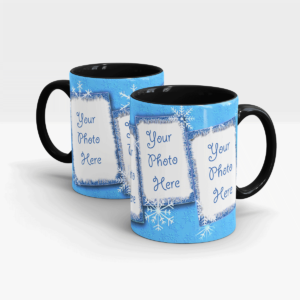 Snowflakes Cool Coffee Mug-Black