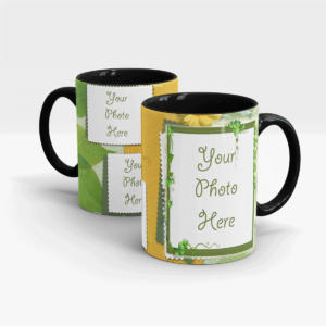 Plant themed Custom Coffee Mug-Black