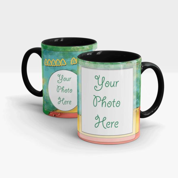 Custom Birthday Gift Mug-Black