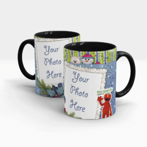 Elmo's Personalized Mug-Black