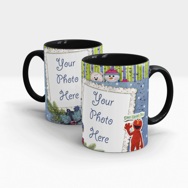 Elmo's Personalized Mug-Black