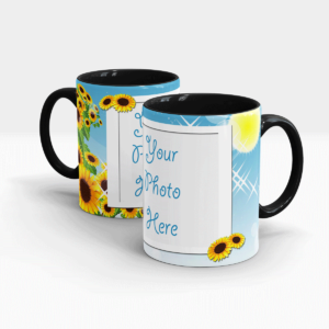 Summer Personalized Coffee Mug-Black