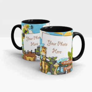 Animal Zoo Custom Mug-Black