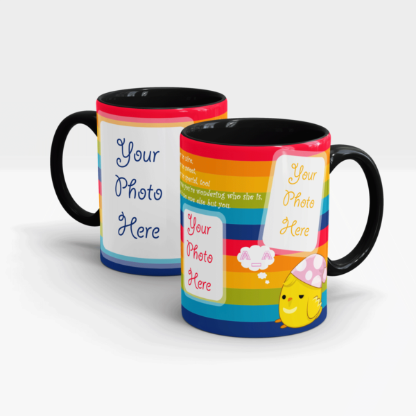 Rainbow Customized Mug-Black
