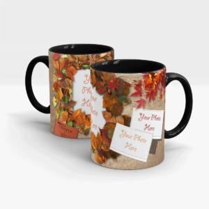 Autumn Leafs Customized Mug-Black
