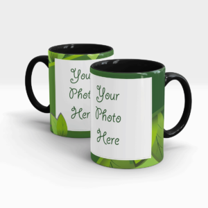 Leaf Green Custom Mug-Black