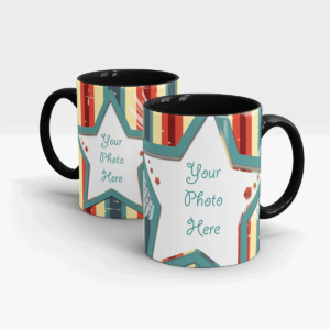 "Custom Printed Mug Themed ""You Are the Star""-Black"
