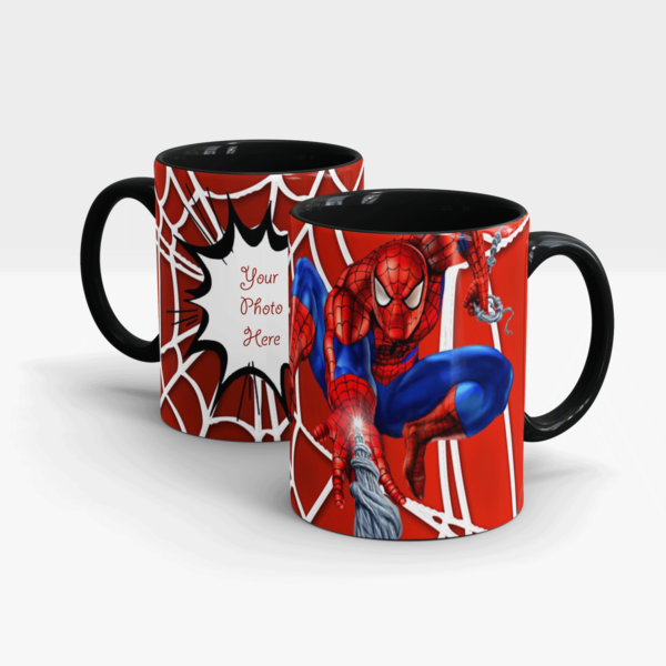 Spider-man Series Customized Gift Mug-Black