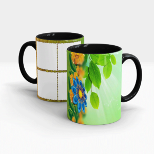 Special Green Series Customized Gift Mug-Black