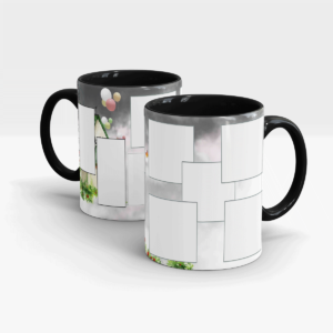 Design Your Own Personalized Photo Mug-Black