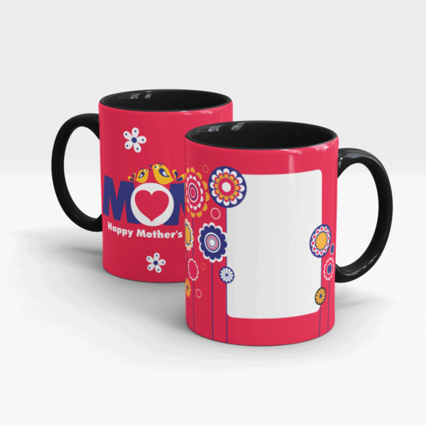 Mother's Day Personalized Gift Mug-Black