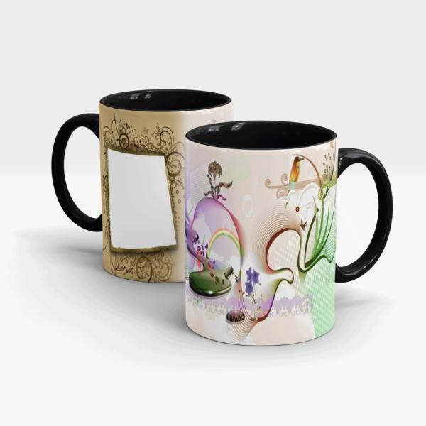 Custom Printed Beautiful Mug-Black