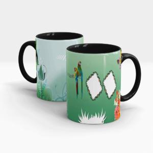 Nature Inspired Custom Printed Gift Mug-Black