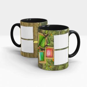Custom Printed Coffee Mug for Coffee Lovers-Black