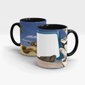 Penguins of Madagascar Personalized Mug for Kids-Black
