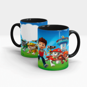 Customized Printed Mug for Kids-Black