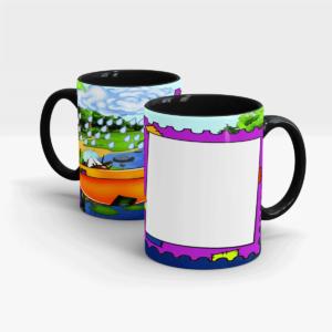 Custom Printed Mug for Kids-Black
