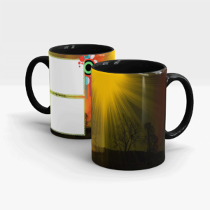 Sunshine Series Custom Printed Gift Mug-Black
