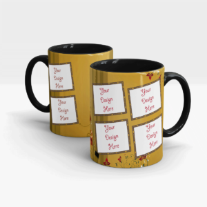 Brown Coffee Mug Series Multiple Photo-holders-Black