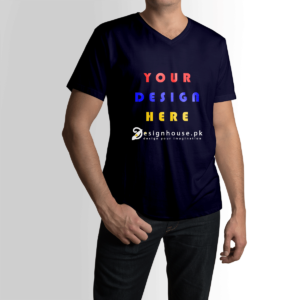 Design Your Own Custom V neck cotton T Shirt