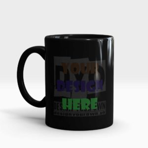Design Your Own Mug Black