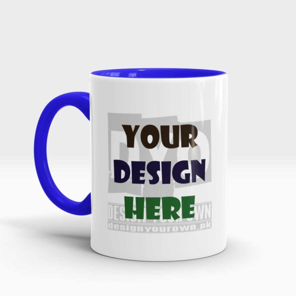 Design Your Own Mug Blue