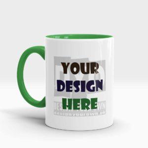 Design Your Own Mug Green