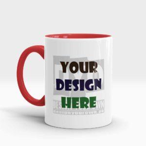 Design Your Own Mug Red