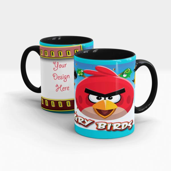 Angry Birds' Personalized Gift Mug-Black