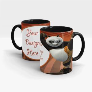 Kung fu Panda Custom Printed Gift Mug-Black