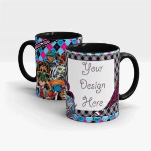 Monster High Personalized Gift Mug Series for Girls-Black