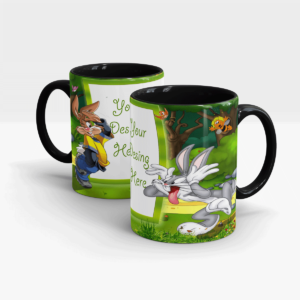 Bugs Bunny Personalized Gift Mug for Kids-Black