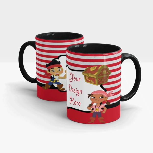 Treasure Hunter Custom Printed Mugs for Kids-Black