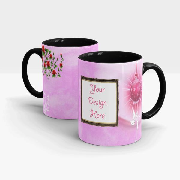 Custom Printed Coffee Mug-Black