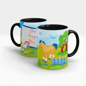 Custom Printed Fun Mug for Kids-Black