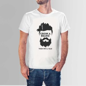 Design Your Own Beard T Shirt White