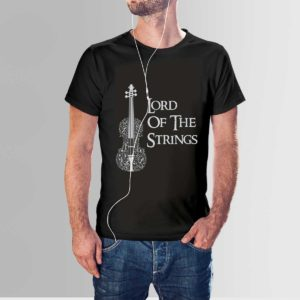 Lord of the Strings Music Band T Shirt Black