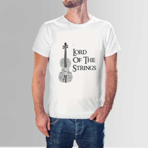 Lord of the Strings Music Band T Shirt White