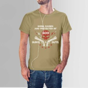 Gods Guns and Guts T Shirt Navy Khaki