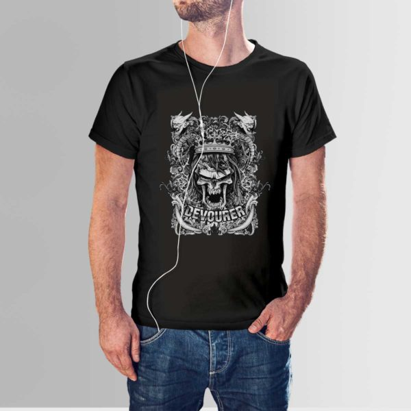 Design Your Own T-Shirt Devourer Black