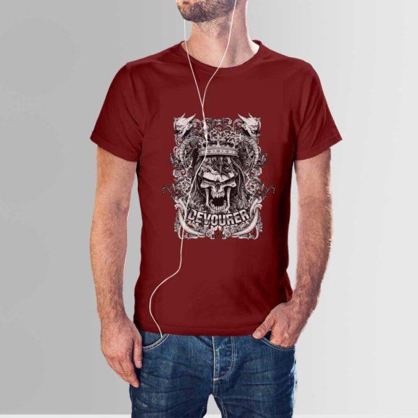 Design Your Own T-Shirt Devourer Maroon