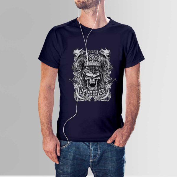 Design Your Own T-Shirt Devourer Navy Blue