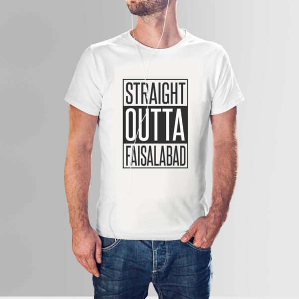 Straight Outta Faisalabad T Shirt White
