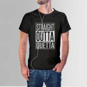 Straight Outta Quetta T Shirt Black