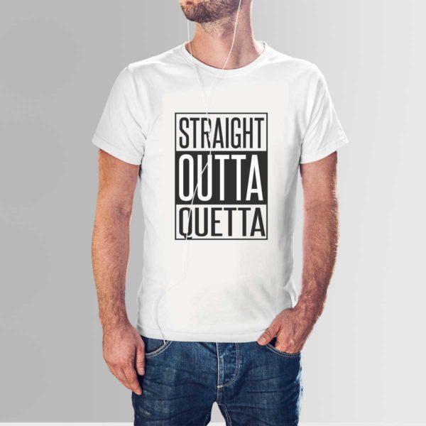 Straight Outta Quetta T Shirt White