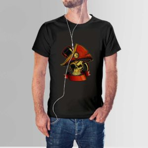 Revolt Skull T Shirt Black