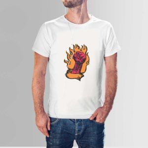 Fire Punch T Shirt White
