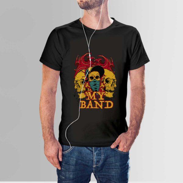 My Band Skull T Shirt Black