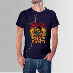 My Band Skull T Shirt Navy Blue