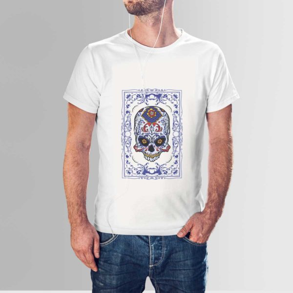 Floral Skull T Shirt White